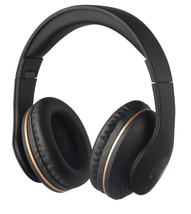 PU leather noise cancelling headphone